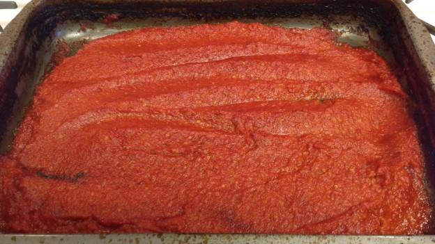 Cooked down tomato paste